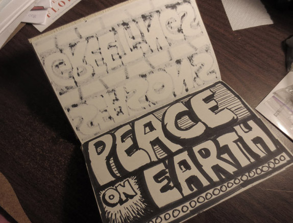 Peace on Earth Sketchbook